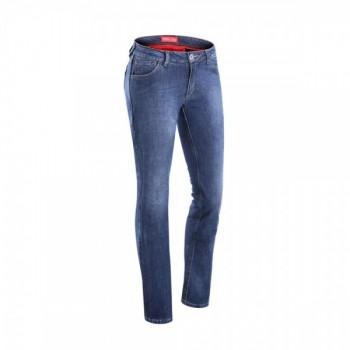 Damskie jeansy motocyklowe...